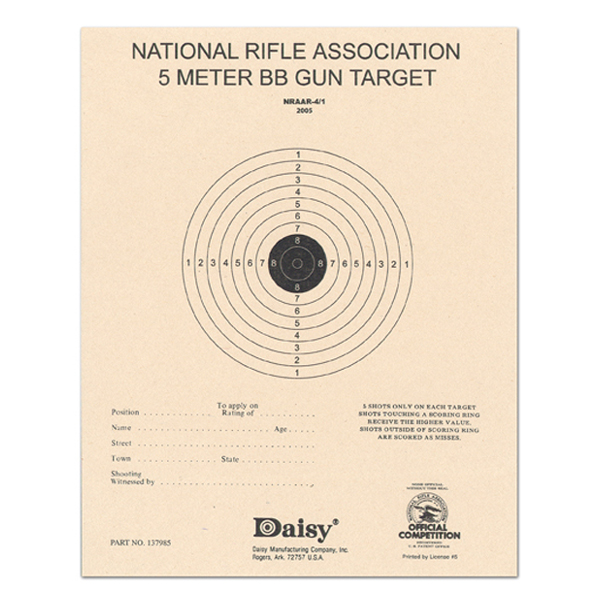 Daisy Official NRA BB Target 5 Meter