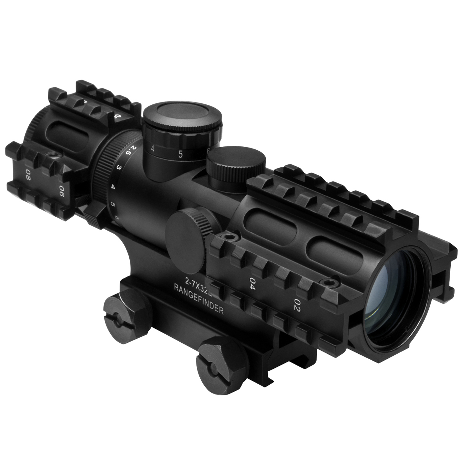 Ncstar Tri Rail Series Rangefinder Rifle Scope