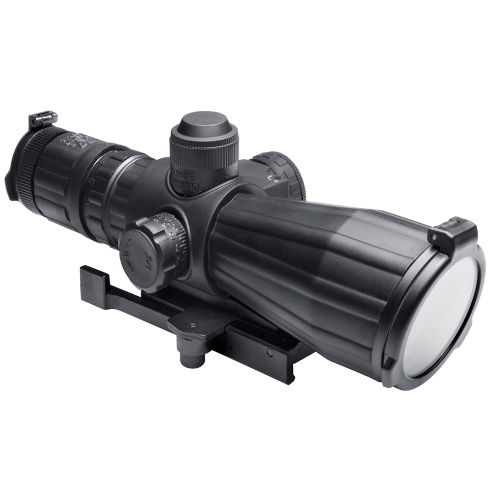 Ncstar SRT Series 3-9X42 Rubber Compact With Red Laser P4 Sniper Rifle Scope