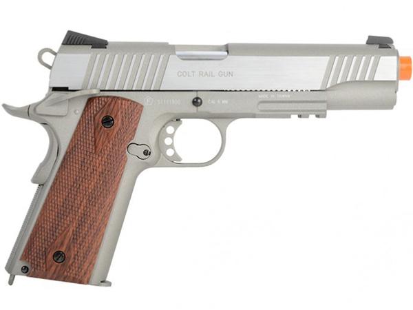 Cybergun Colt 1911 Rail Gun CO2 Blowback Airsoft gun
