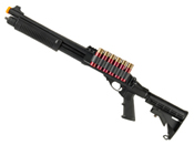JAG Arms Scattergun TSS Green Gas Airsoft Shotgun w/ Side Saddle