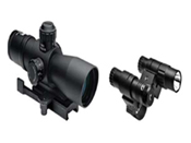 Ncstar Total Targeting System 4X32 Mil-Dot Rifle Scope Green Laser Flashlight