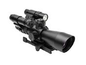 Ncstar Total Targeting System P4 Sniper Scope Green Laser Flashlight